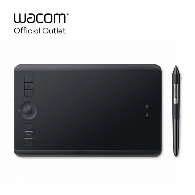 Used Wacom Intuos Pro Small Digital Graphic Drawing Tablet, SHPTH460K0A