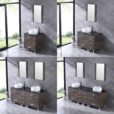 Ceramic Bathroom Vanity - Bathroom Vanity Wood Cabinet Double/Single White Ceramic Porcelain Sink Combo