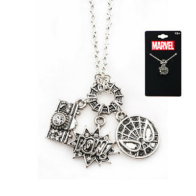Marvel  Spiderman Spider-man pendant with chain Jewelry Necklace](Spiderman Jewelry)