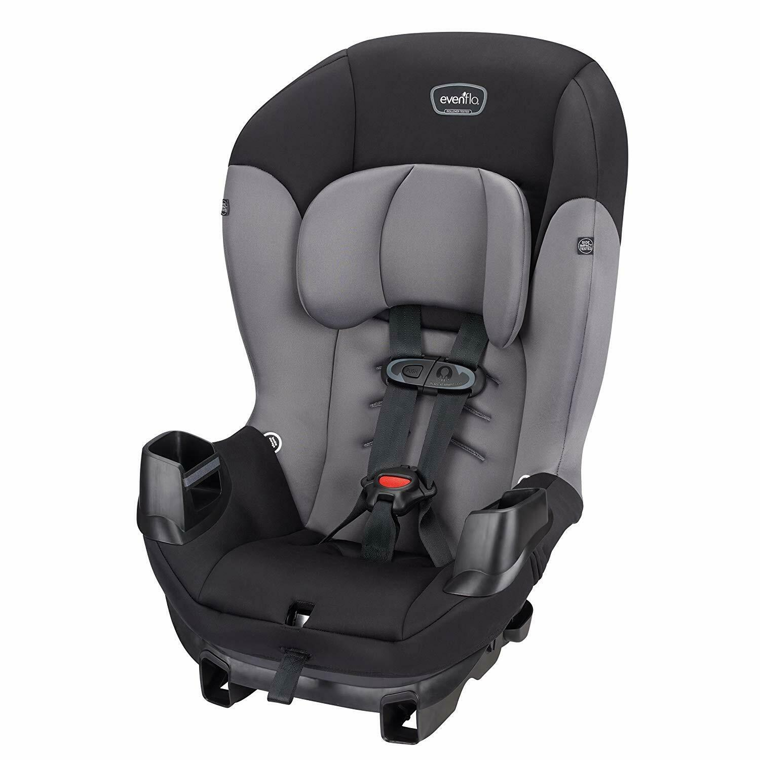 Evenflo Sonus Convertible Car Seat, Charcoal Sky Safety 3DAY