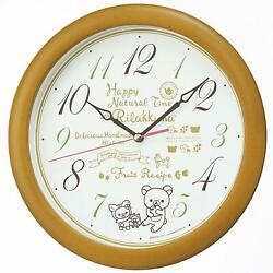 Seiko clock wall clock Rilakkuma analog wooden light brown wooden base CQ220B