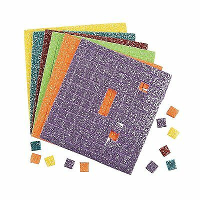 "Foam Adhesive Glitter Squares (500 Pieces) - Each Square, Approx. 1/4""."