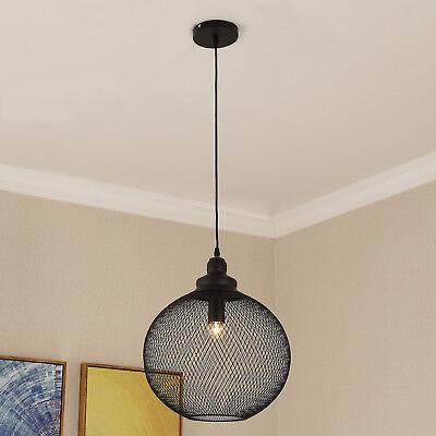 Pendant Light Hanging Lamp Shade Lightening Steel  Mesh Retro Mesh Globe Use E26