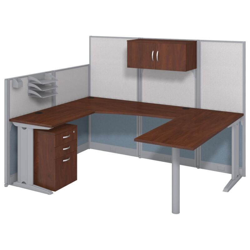 "Office Cubicals – ""U-shaped"" Cubicals In An Hour With Storage Kit"