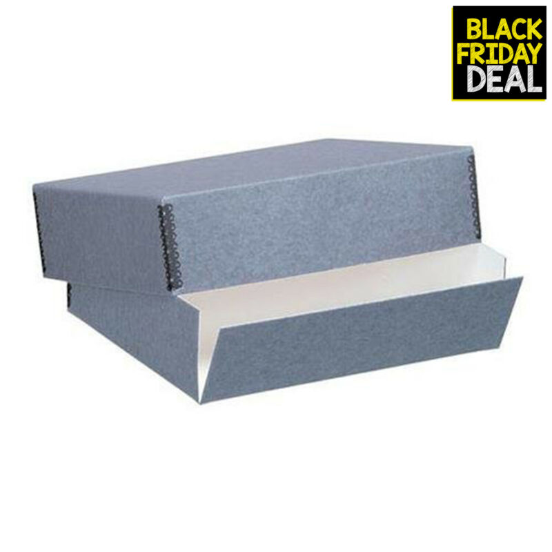 Lineco Museum Storage Box Archival Quality Acid-Free Buffered Drop Front Desi...