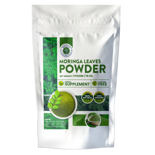 Moringa Leaves Powder, Perfect for Smoothies  | 16 Ounces (1 Pound) | 100% Pure