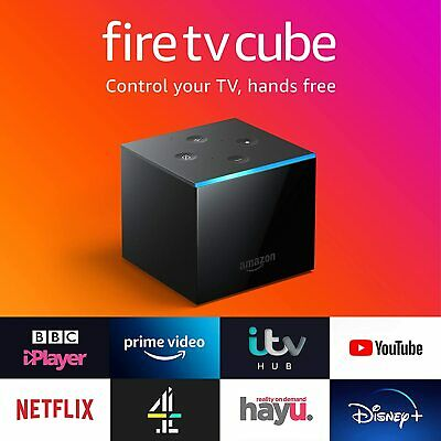 Amazon Fire TV Cube 4k Ultra HD Streaming Media Player with Hand free Alexa UK