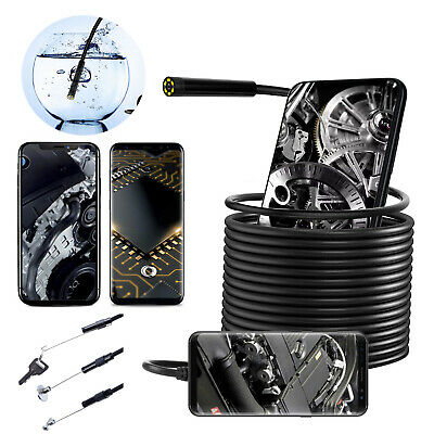 Waterproof Underwater Inspection Snake Endoscope Borescope Camera For Phone Pc