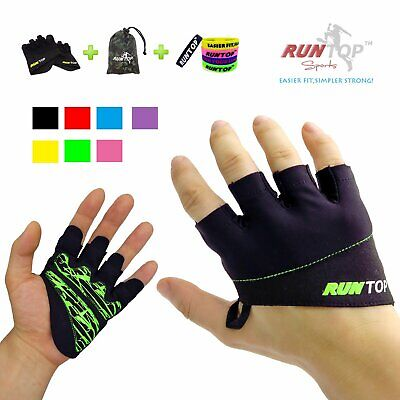 RUNTOP Workout Gloves Weight Lifting Grips with Silicon Padd