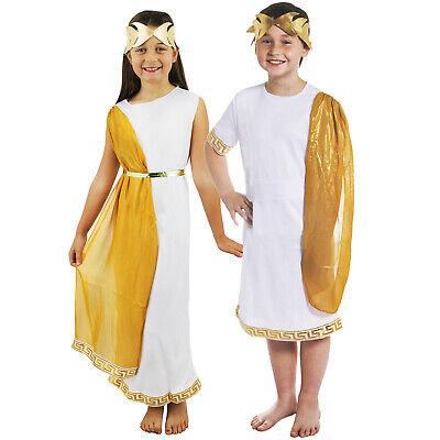 KINDER RÖMISCHES GRIECHISCHES PAAR TOGA KOSTÜM VERKLEIDUNG FASCHING - Toga Paare Kostüm