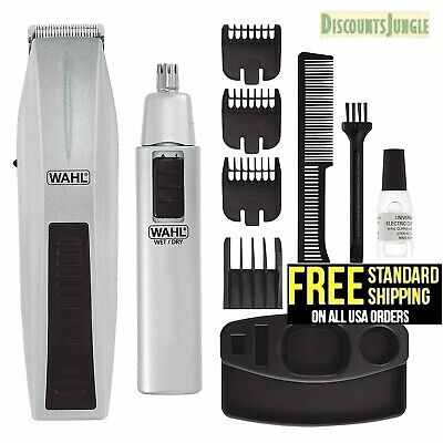 WAHL Cordless Hair Clipper Cutting Machine Kit Shaving Grooming Trimmer Beard Mens Grooming Kit