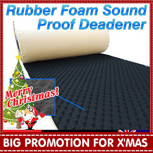 1M x 0.3M Acoustic Sound Noise Deadener Heat Insulation Absorption Proofing Foam