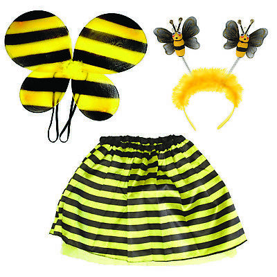 Bumble Bee Tutu (BUMBLE BEE DRESS UP KIT TUTU WINGS HEAD BOPPER KIDS/ADULT 2 SIZES PARTY STRIPPED)
