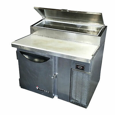 Victory Vpt-46 46 16.7 Cubic Ft Stainless Refrigerated Pizza Prep Table Cooler