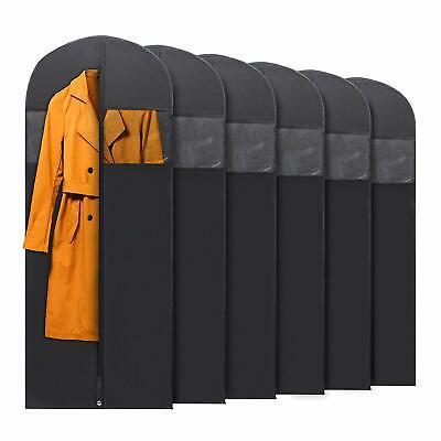 6x PLX Hanging Garment Bags for Storage Travel Suit Bag Dress Shirt Coat 60 Inch