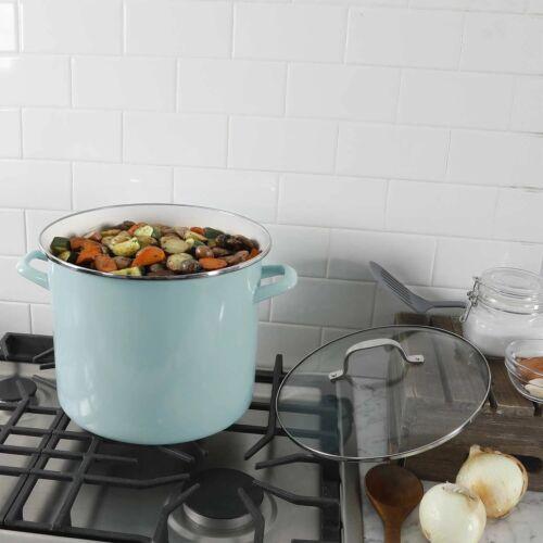 Martha Stewart 12-Quart Martha Blue Stock Pot