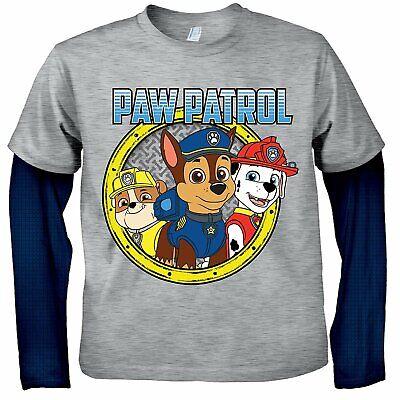 Paw Patrol Shirts (Nickelodeon Boys Paw Patrol Long Sleeve T-Shirt with Favorite)