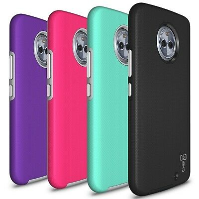 Coveron Rugged Series Case For Motorola Moto X4  X 4Th Gen  Hybrid Hard Cover