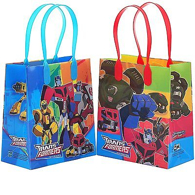 12PCS Transformers Animated Goodie Party Favor Gift Birthday Loot Bags Licensed  - Transformers Birthday