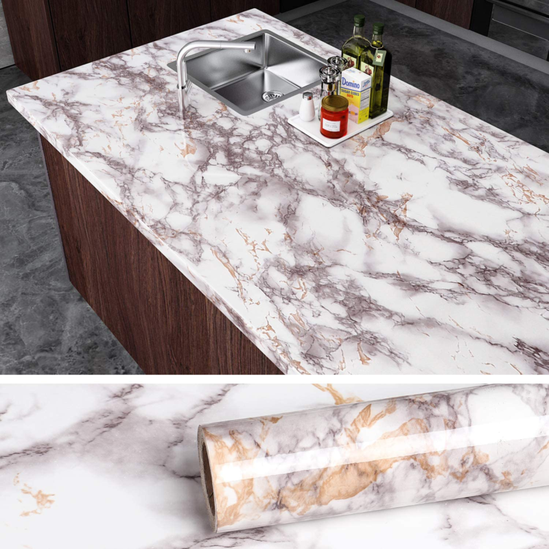 Grey Marble Contact Paper Counter Top Covers Peel And Stick