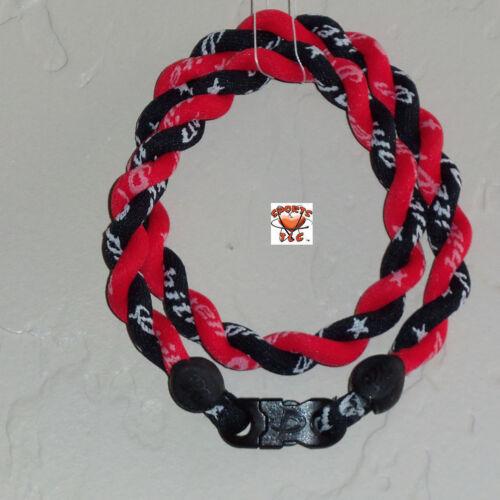 Phiten Tornado Necklace Custom: Black with Cardinal Red