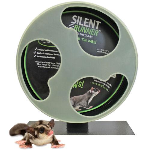 "Silent Runner Glow Wheel 12"" - Pet Exercise Wheel - Hamster, Sugar Glider, Rat"