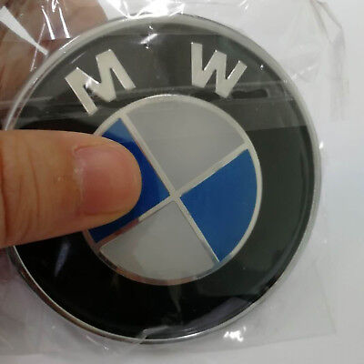 Blue& White Car Emblem Chrome Front Badge Logo 82mm 2 Pins For BMW (1992 Bmw 318is)
