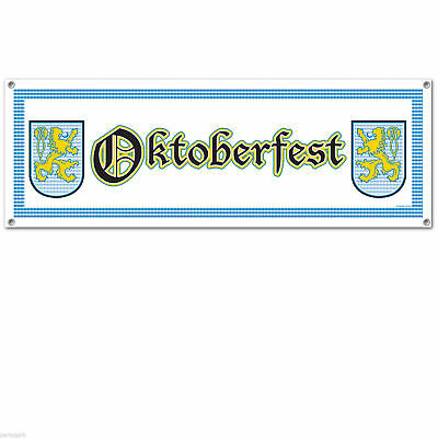 Oktoberfest Banner Jumbo Sign Party Yard Art German Crest Bavaria Beer Festival