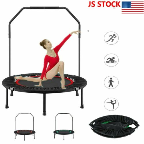 40'' Mini Exercise Trampoline for Adults Kids Foldable Fitne