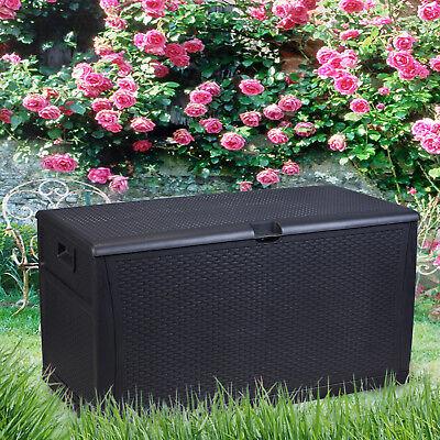 Patio Storage Bench Outdoor Seat Furniture 120 Gallon Patio Storage Bench Deck