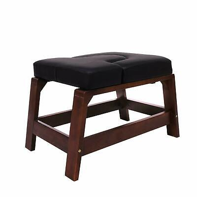 Yoga Inversion Chair, Yoga Headstand Bench with Wood Frame and PVC Pads