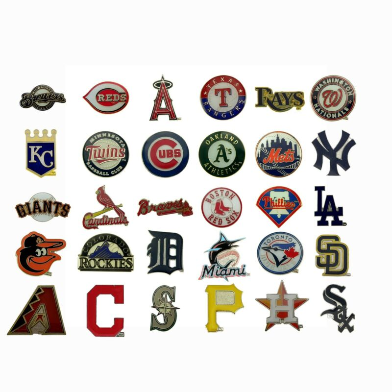 Complete Set Mlb Team Logo Lapel Pin Baseball Official Licensed All 30 Teams