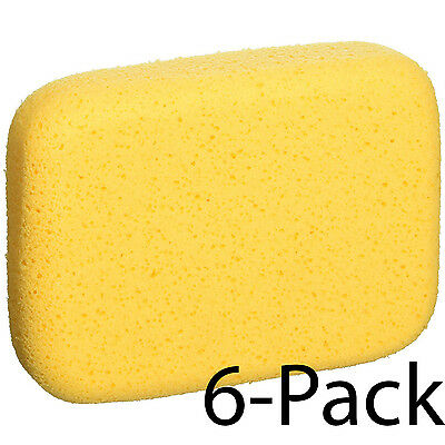 Xlarge Tile Grout Sponge 6pc Ceramic Floor Wall Cleaning Tool Washing Car Boat