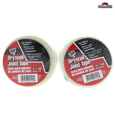 2 Self Adhesive Fiberglass Drywall Joint Repair Tape 2 X 180 New