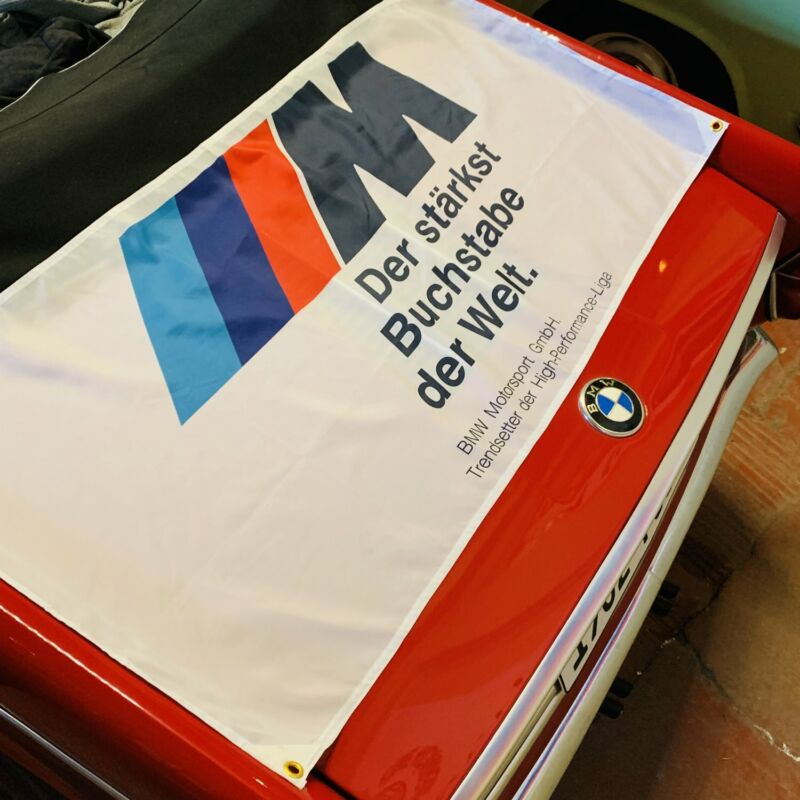 BMW M Welt Sport Banner Motorsport  Performance Dealer Shop ///M M3 M5 Alpina E
