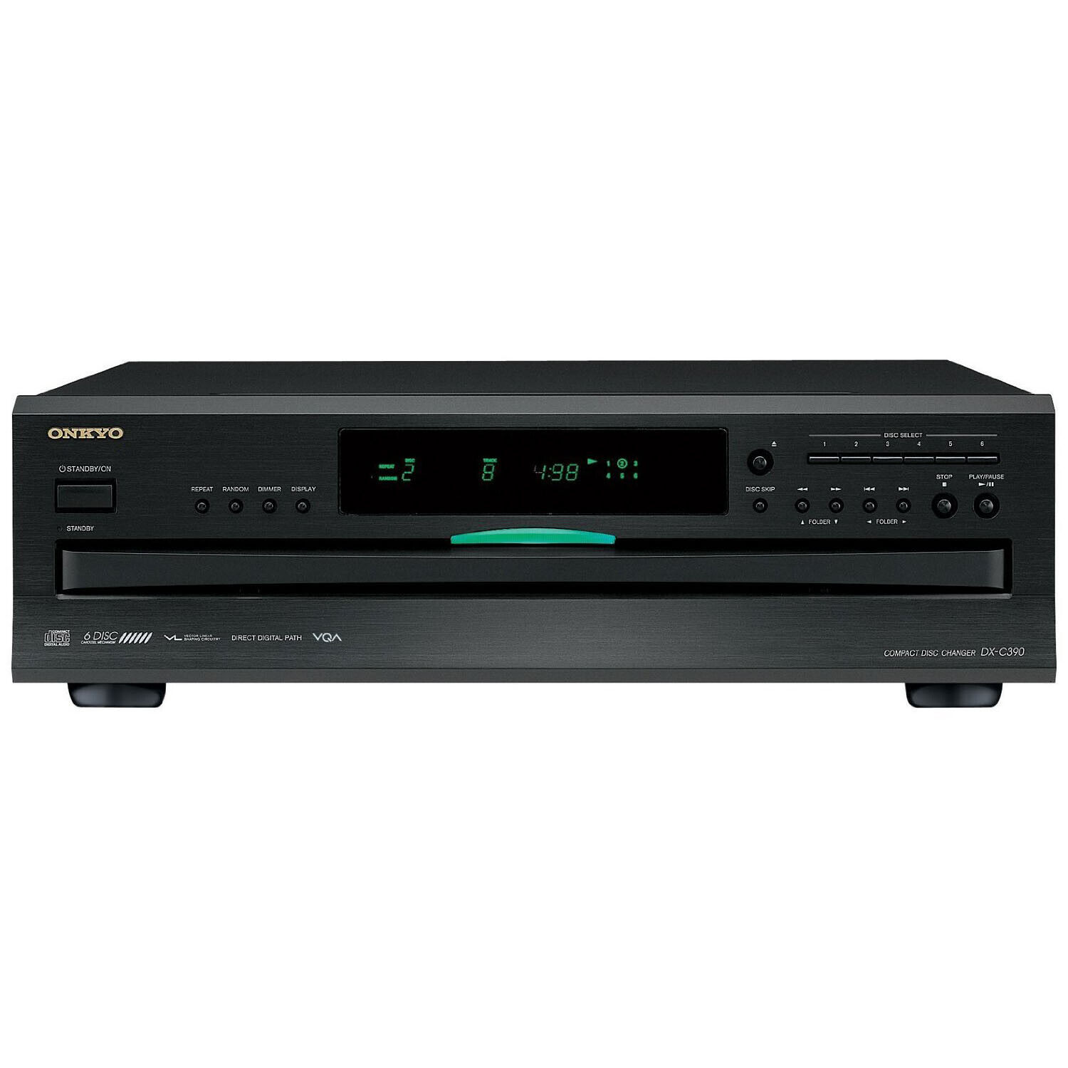 Onkyo 6-Disc Home Audio Carousel CD Changer Player with Remo