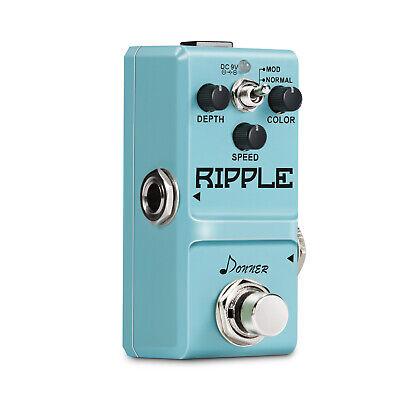 Donner Ripple Classic Pedal Tremolo Mini Guitar Effect Circuit Tremolo Supper