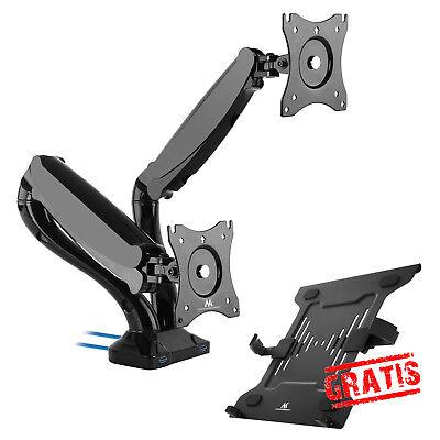 Dual Monitor Schreibtisch Halterung Monitorarm bis 12kg 13-27