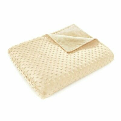 """Quility Premium Removable Minky Cover for Weighted Blanket 60""""x80"""" Ivory"""