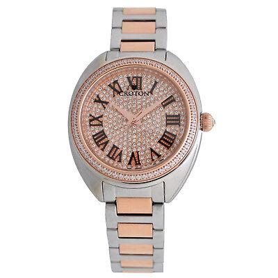 Croton Women's CN207564TTRG Quartz Roman Numerals Two-Tone Bracelet 37mm Watch