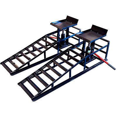2 Hydraulic Vehicle Ramps 4,400 lb.Capacity Portable Car Repair Free shipping