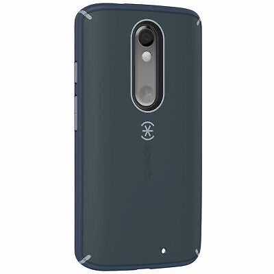 Speck Mightyshell Case Motorola DROID Turbo2 Charcoal Nickel Grey Shadow Blue