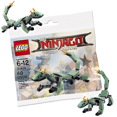 Genuine Lego Ninjago Movie Polybag 30428 Green Dragon Lloyd / New Sealed