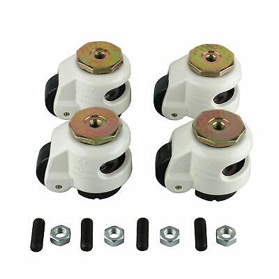 Retractable Leveling Machine Casters Heavy Duty Leveling Nylon Wheels Nbr Pad