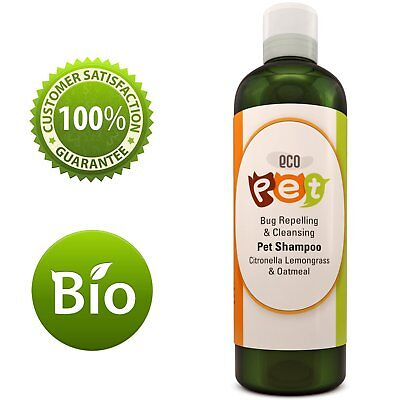 Natural Oatmeal Dog Shampoo For Itchy Skin With Pure Citronella Essential Oil
