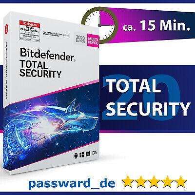 Bitdefender Total Security 2020 – 1, 3, 5 oder 10 Geräte / PC | 1, 2 und 3 Jahre