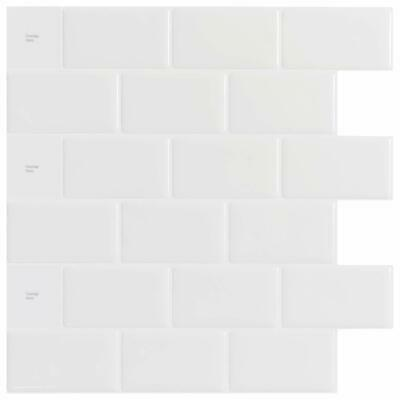 "White Subway Backsplash Tiles for Kitchen Peel and Stick, 12""x12"",10sheets"