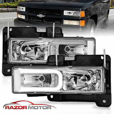 1988-1998 GMC Sierra Chevy C/K 1500/2500/3500 LED Bar Headlight Bumper Lamp