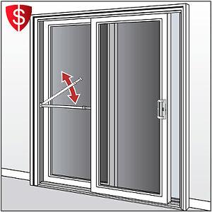 Sliding Door Security Bar Glass Lock Safety Brace Proof Adjustable Patio Brace