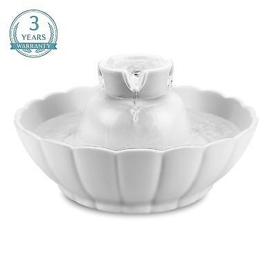 - iPettie Ceramic Automatic Electric Lotus Pet Water Fountain for Dog Cat Drinking